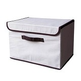 FUNIKA Non Woven Storage Bin with Lip Cover [NW13203] - Beiges - Container